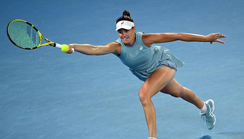 TENNIS AUSTRALIAN OPEN, Jennifer Brady of the United States in action during the women s singles final against Naomi Osa